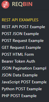 Reqbin documentation