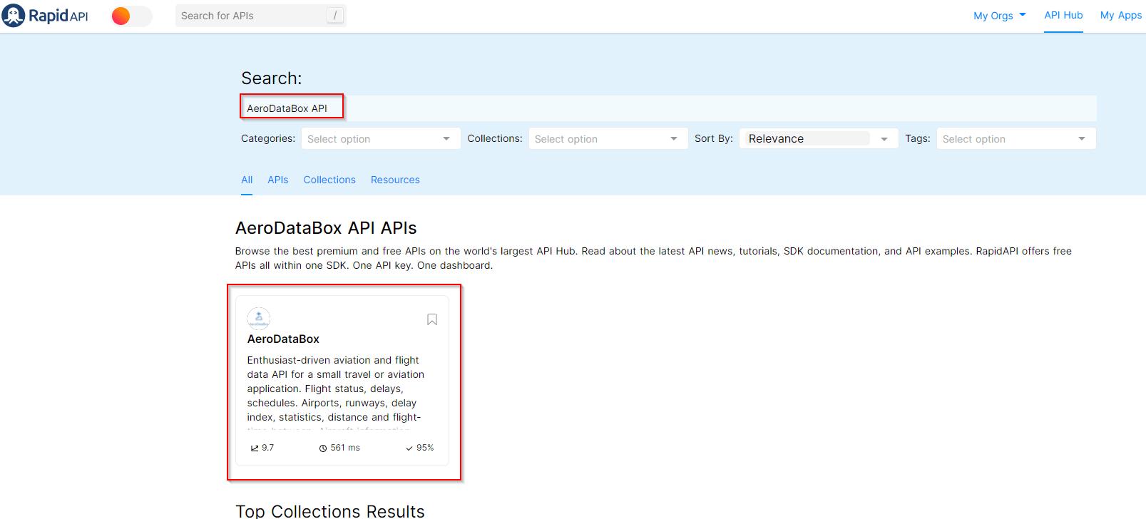 Search the API Marketplace